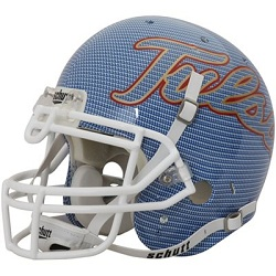 University of Tulsa Golden Hurricane Carbon Fiber Blue XP Football Helmet