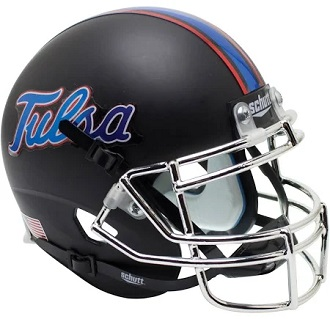University of Tulsa Golden Hurricane Black XP Football Helmet