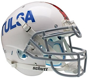 University of Tulsa Golden Hurricane White XP Football Helmet
