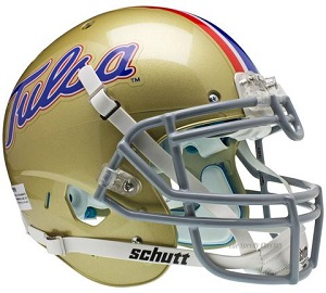 University of Tulsa Golden Hurricane XP Football Helmet