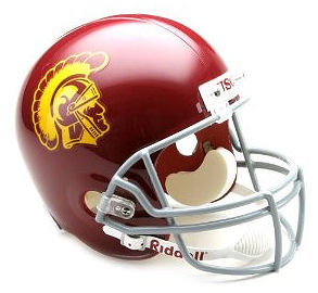 University of Southern California Trojans Full Size Replica Football Helmet by Riddell