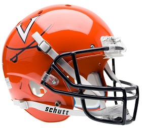 Replica University of Virginia Black XP Helmet by Schutt