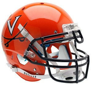 Authentic University of Virginia Alternate Orange XP Helmet by Schutt