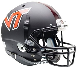 Replica Virginia Tech Matte Black XP Helmet