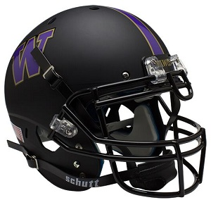 Authentic University of Washington Matte Black XP Helmet