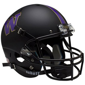 University of Washington Replica Matte Black XP Helmet