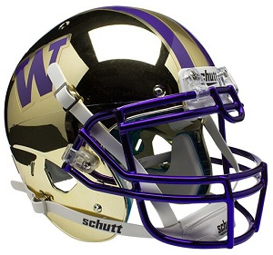 University of Washington Gold Chrome XP Helmet