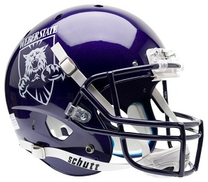 Weber State Replica Gray XP Football Helmet